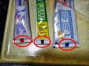 Você sabe o significado dos quadrados e retângulos nos tubos de creme, pasta de dente e shampoo?