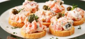 canapés de salmão