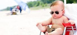 bebê e praia